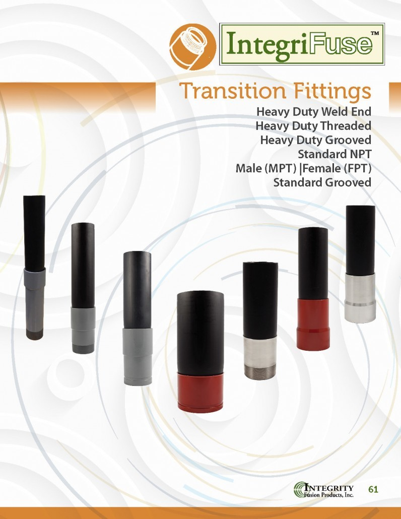 Hdpe transition fittings integrity fusion